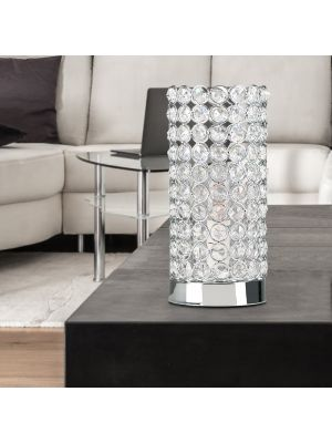 Ducy Chrome Cylinder Touch Table Lamp
