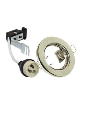 EcoSpot+ Hoop Downlight Steel GU10 Fixed Brass
