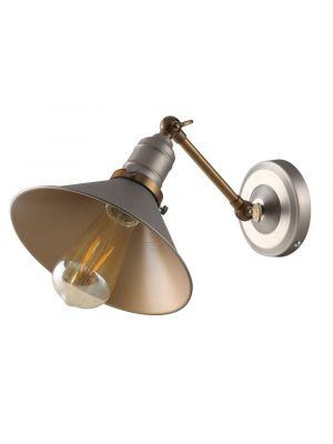Gladstone Retro Style Pewter/ Chrome & Bronze Wall Light