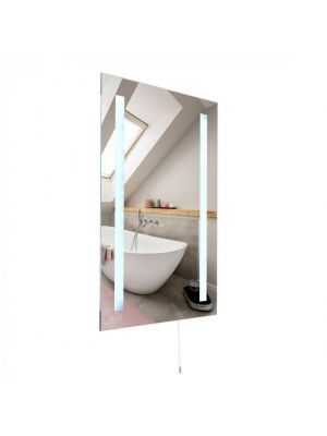 Pacific IP44 Battery Op Lge LED Bathroom Mirror Light 6500K