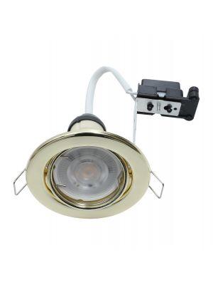 EcoSpot+ Hoop Downlight Steel GU10 Tilt Brass