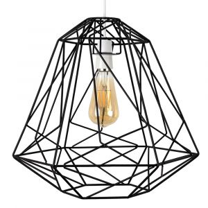 Okko Geometric Non Electric Basket Shade Black