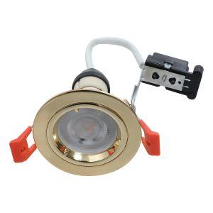 EcoSpot+ Hoop Plus Downlight Die Cast GU10 Fixed Brass
