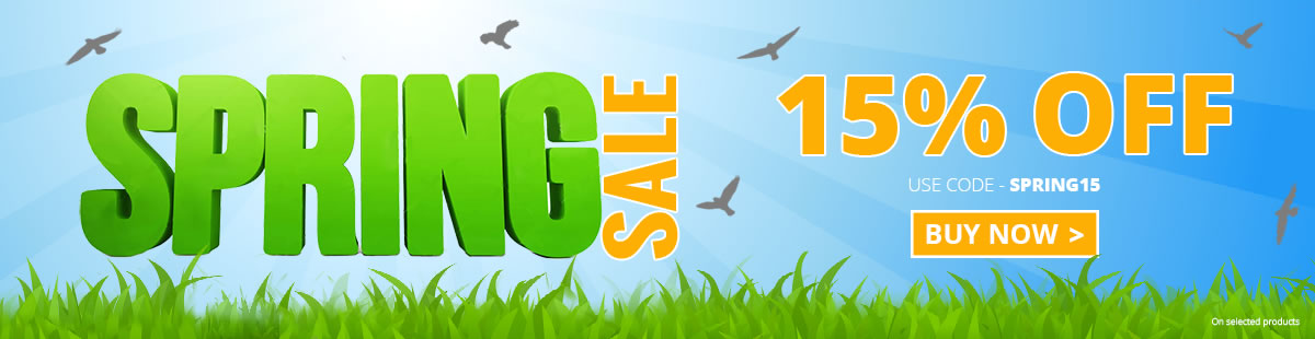 Massive Discount Code SPRING15 on selected LED lights products